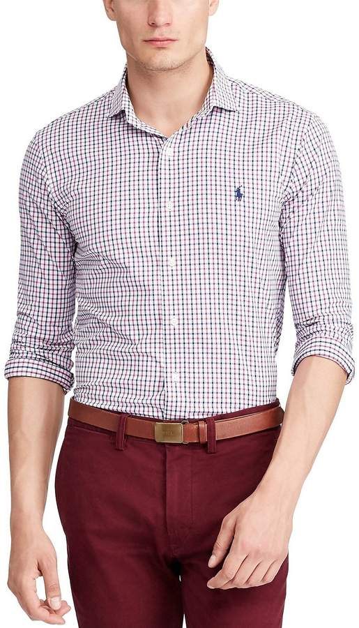 Polo Ralph Lauren Big & Tall Plaid Twill Performance Long-Sleeve Woven Shirt