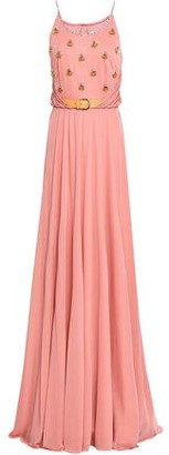 Emilio Pucci Embellished Ruched Jersey Maxi Dress