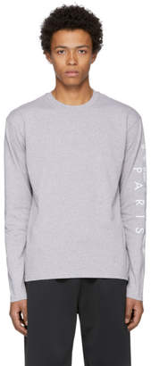 Kenzo Grey Long Sleeve Logo T-Shirt