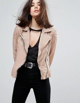 Muubaa Indus Leather Biker Jacket $364 thestylecure.com
