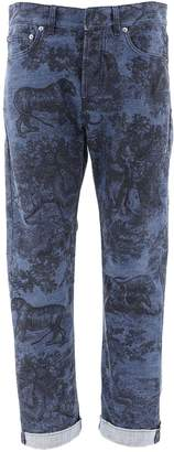 Christian Dior Printed Straight Fit Jeans