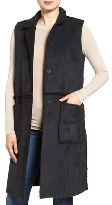 Women's French Connection Reversible Faux Shearling Vest $180 thestylecure.com