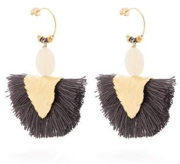 ELISE TSIKIS Havane tassel-drop gold-plated earrings