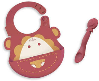 Marcus Collection &  the Lion Silicone Baby Bib and Feeding Spoon Set