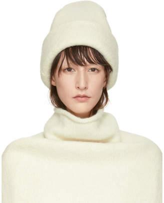 LAUREN MANOOGIAN Off-White Alpaca Carpenter Beanie