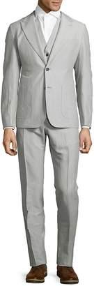 Dolce & Gabbana Men's Striped Linen & Cotton Suit