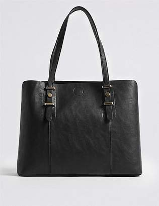 Marks and Spencer Faux Leather Soft Stud Tote Bag