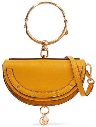 Chloé Nile Bracelet Mini Textured-leather Shoulder Bag - Yellow