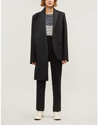 J.W.Anderson Asymmetric stretch-wool blazer