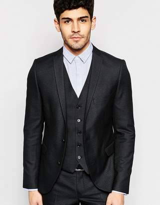 Selected Skinny Check Suit Jacket with Stretch