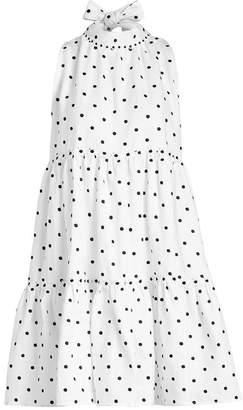 Erica Ruffle Printed Linen Mini Dress