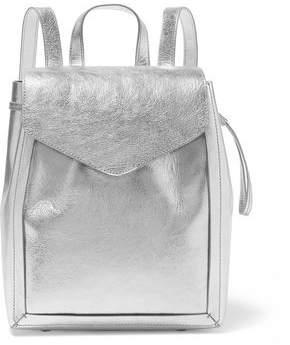 Loeffler Randall Metallic Textured-Leather Backpack