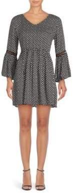 MinkPink Printed V-Neck Dress