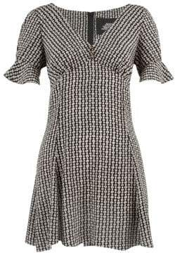 Marc Jacobs Redux Grunge Flower Chain Silk Mini Dress