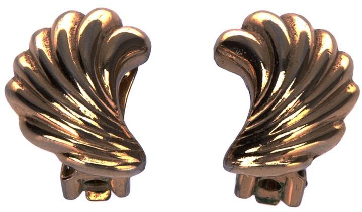 Christian Dior leaf earring