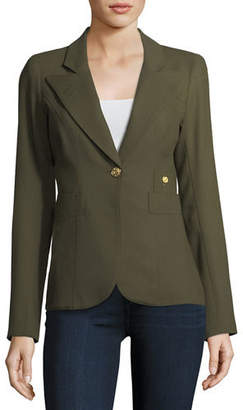 Smythe Duchess Single-Button Wool Blazer