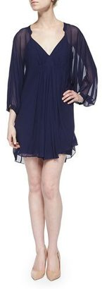 Diane von Furstenberg Fleurette Swingy Chiffon Dress $368 thestylecure.com