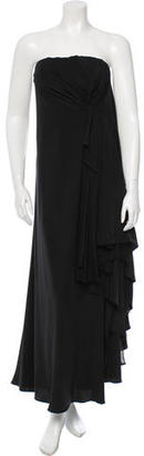 Yohji Yamamoto Silk Strapless Gown w/ Tags $1,665 thestylecure.com