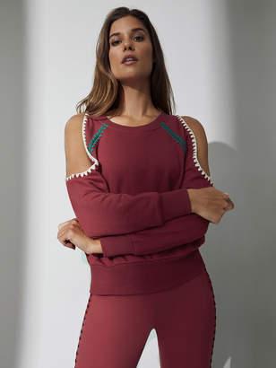 Carbon38 Crochet Cold Shoulder Sweatshirt