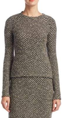Ralph Lauren Slub Tweed Herringbone Sweater