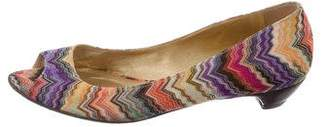 Missoni Woven Peep-Toe Pumps