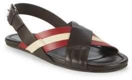 Bally Verlon Leather Slingback Sandals