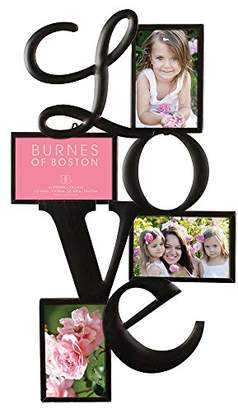 Burnes of Boston Traditional Oil Rubbed Bronze LOVE Collage Wall Frame