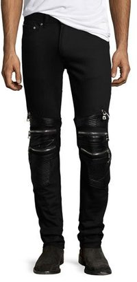 God's Masterful Children Chain Biker Skinny Jeans, Black $325 thestylecure.com