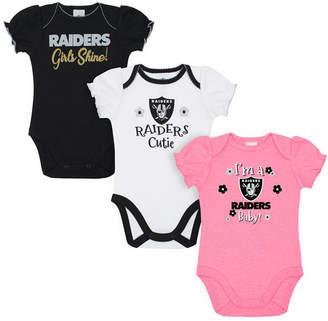 Gerber Oakland Raiders 3 Pack Creeper Set, Infants (0-9 Months)