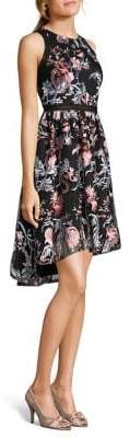 Adrianna Papell Floral-Print Halter Fit-and-Flare Dress