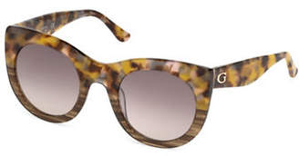 GUESS 51mm Round Sunglasses