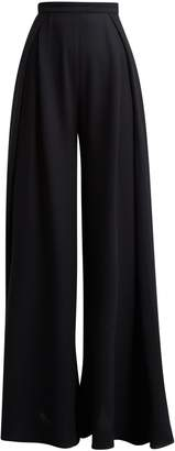 Jacquemus High-rise pleated crepe trousers