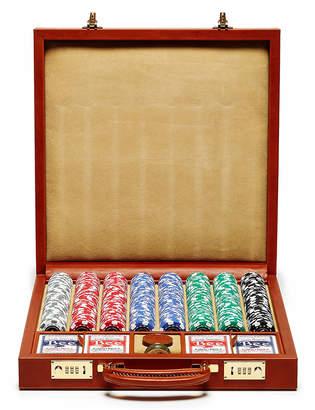 Ghurka Chestnut Leather Poker Set