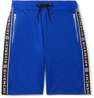 Givenchy Logo-Jacquard Tech-Jersey Drawstring Shorts - Men - Blue