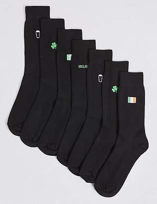 M&S Collection 7 Pack Ireland Design FreshfeetTM Socks