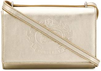 Burberry logo embossed crossbody bag