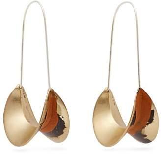 Albus Lumen - X Ryan Storer Painted Hoop Earrings - Womens - Orange