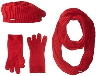 Calvin Klein Women's 3 Piece Rib Knit Scarf Set