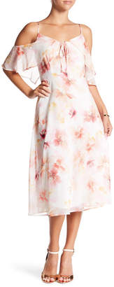 Cynthia Steffe CeCe by Alice Cold Shoulder Print Dress