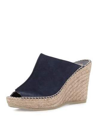 Andre Assous Cici Suede Espadrille Wedge Mule, Navy $169 thestylecure.com