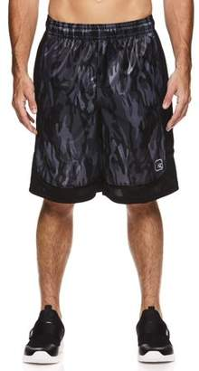 AND 1 AND1 Men's Polyester All Court Printed Camo Basketball Shorts