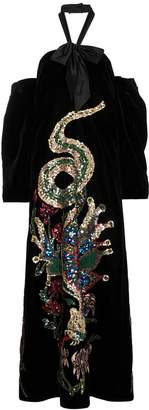 Gucci Sequin Embroidered Velvet Gown