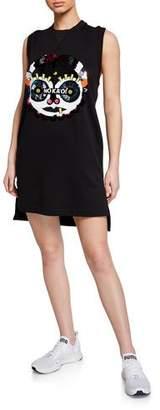 NO KA 'OI No Ka Oi Presence 2 Sequined Graphic Sleeveless Short Dress