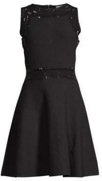Embellished Fit-&-Flare Dress