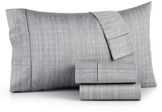 Hotel Collection Closeout! Modern Grid Cotton 525-Thread Count 4-Pc. California King Sheet Set, Created for Macy's Bedding