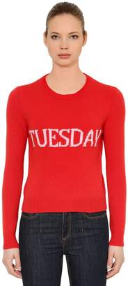 Alberta Ferretti Slim Tuesday Wool & Cashmere Sweater