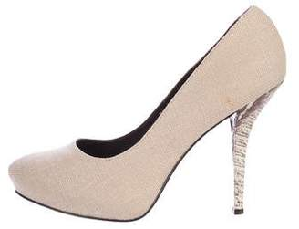 Elizabeth and James Woven Round-Toe Pumps