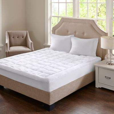Madison Park Cloud Soft Twin Mattress Pad in White