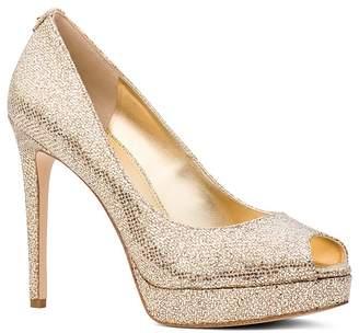 MICHAEL Michael Kors Women's Erika Glitter Platform Peep Toe Pumps