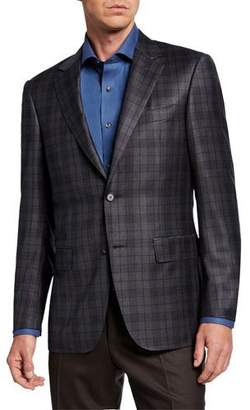Canali Men's Two-Tone Plaid Two-Button Jacket